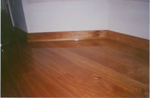 Red birch trim matches the flooring.