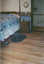 "Nuthatch maple bedroom, no knots but ALL of the verigated color of white maple, 3-6"" nom. widths, 3-9' lengths."