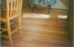 Unlike strip flooring, these red oak floors are unique, and beautiful
