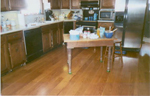 white oak williamsburg kitchen - not just for galleries... flooring you can live with.